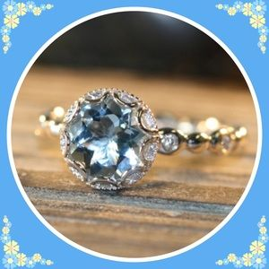 Jewelry - 💍NEW💍❤️Aquamarine CZ Diamond Ring💍